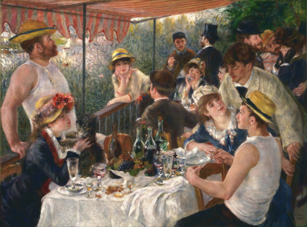Luncheon of the Boating Party (1880-81) by Renoir. As reproduced in our new monograph