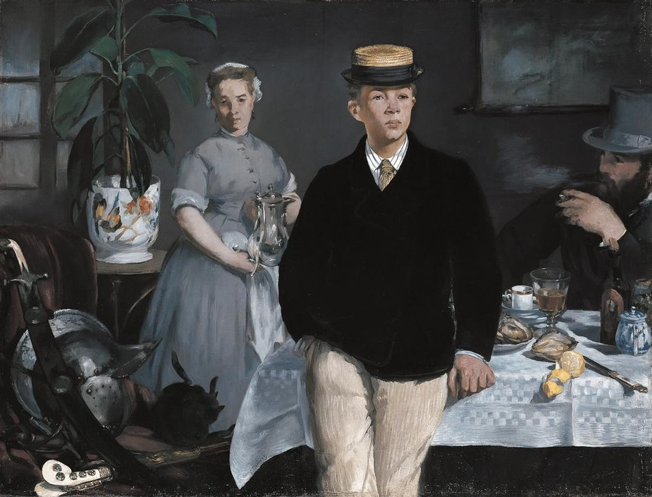 Lunch in the Studio (1868) by Édouard Manet. As featured in our new edition of 30,000 Years of Art