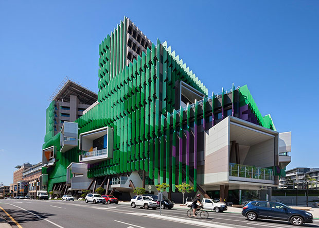 A surprisingly natural form inspired this hospital for Architecture firms brisbane