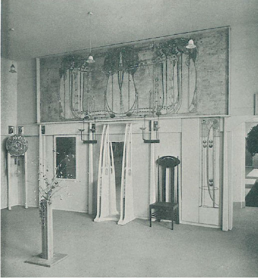 The Mackintosh room from the eight Secession exhibition, as reproduced in Art In Time