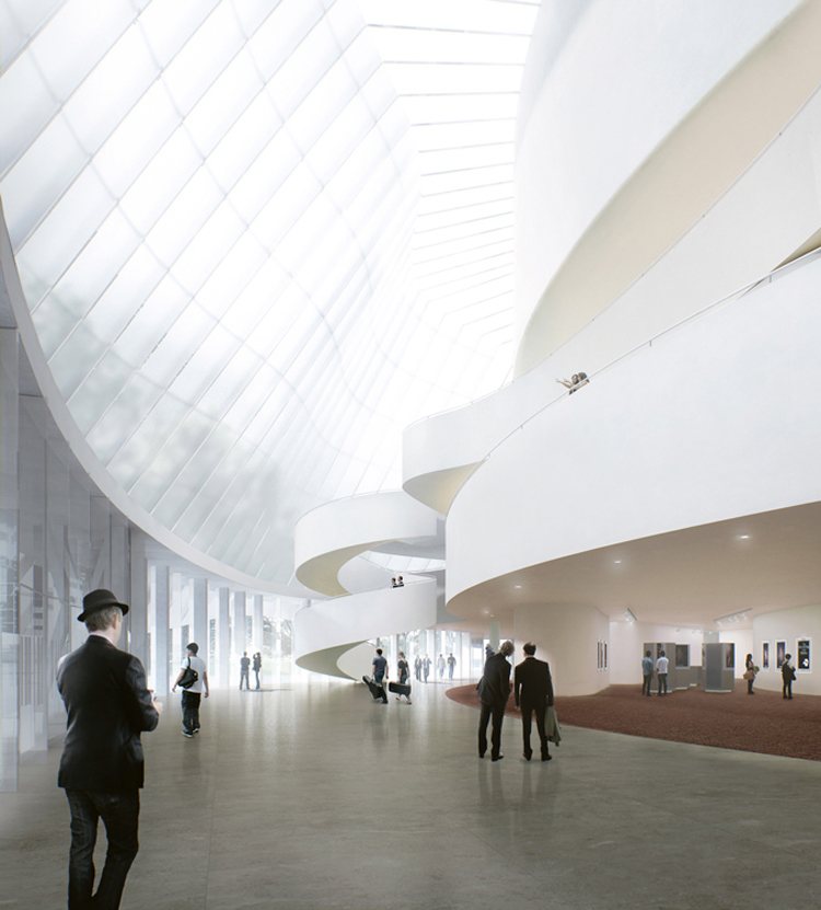 A rendering for the new China Philharmonic Concert Hall by MAD Architects. Image courtesy of MAD