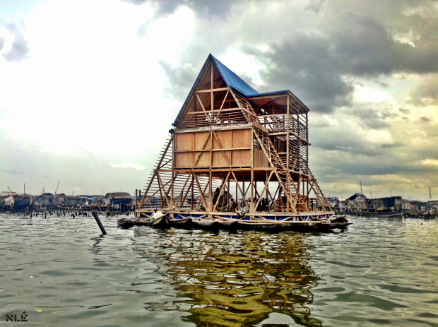 Makoko Floating School, Lagos, Nigeria by NLE. Image courtesy of RIBA