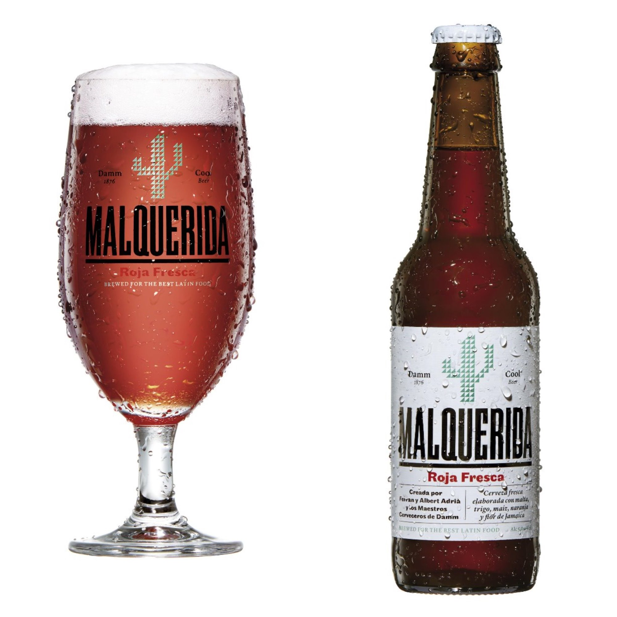 Malquerida beer, produced by Damm, with a little help from the world's greatest culinary genuises