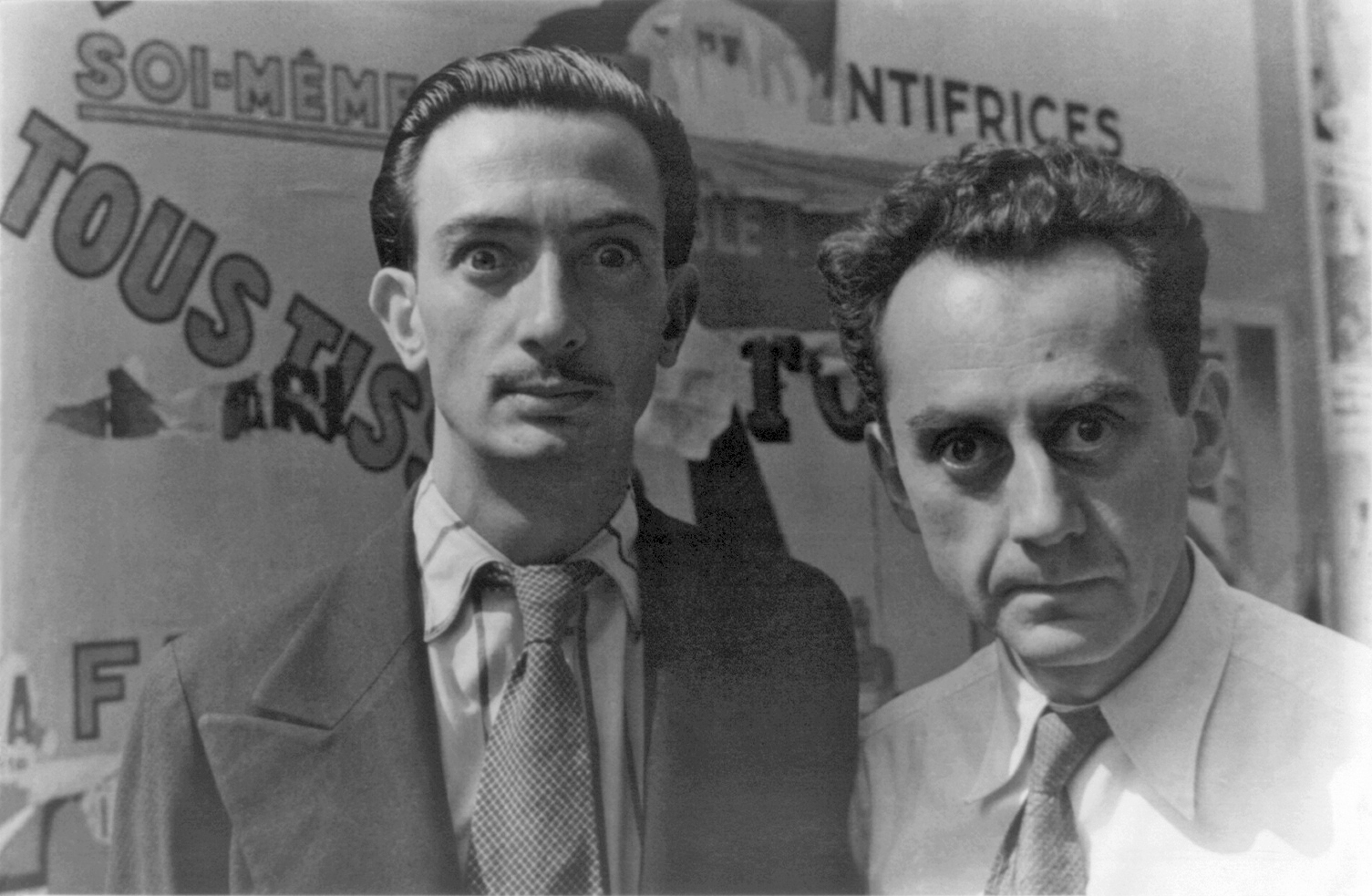 Dalí (left) and Man Ray in Paris, June, 1934