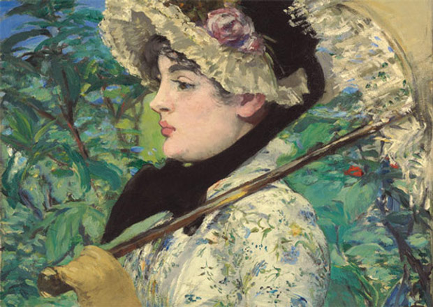 Detail from Le Printemps (1881) by Edouard Manet