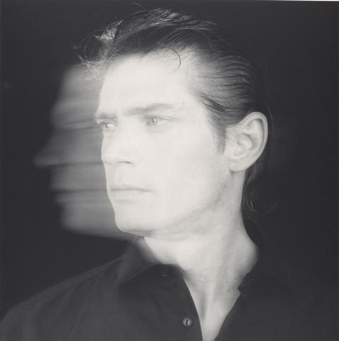 Self-Portrait, 1985, by Robert Mapplethorpe. Gelatin silver print Image: 38.7 x 38.6 cm (15 1/4 x 15 3/16 in.) Jointly acquired by the J. Paul Getty Trust and the Los Angeles County Museum of Art, with funds provided by the J. Paul Getty Trust and the David Geffen Foundation, 2011.7.21 © Robert Mapplethorpe Foundation