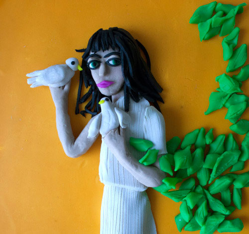 Photographs Rendered in Play Doh Eleanor Macnair - Original photo Robert Mapplethorpe