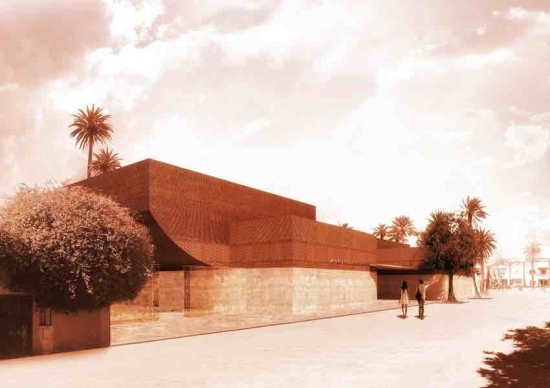 Musée Yves Saint Laurent Marrakech takes shape