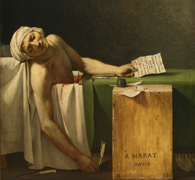 gombrich explains the death of marat art agenda phaidon