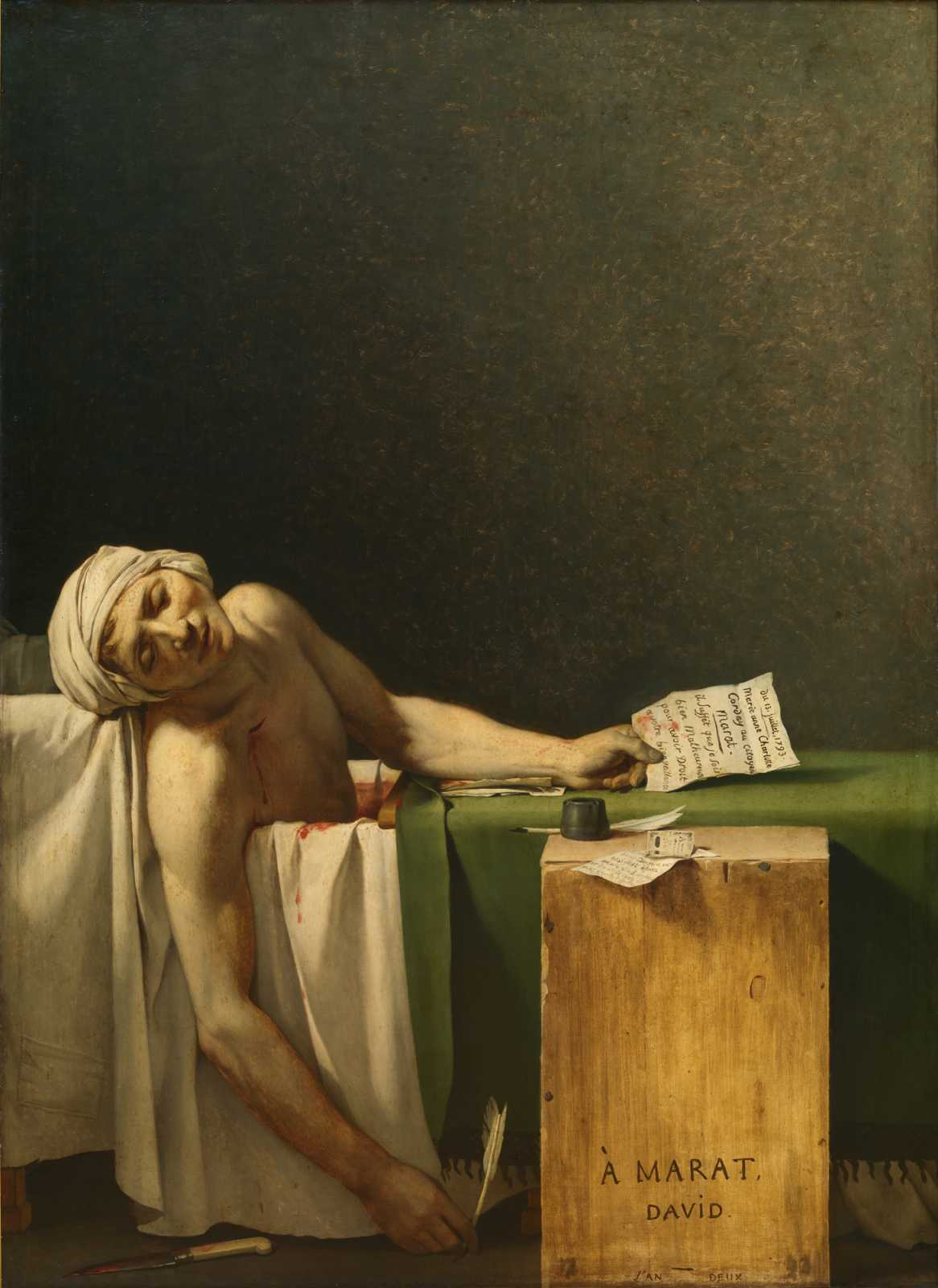The Death of Marat (1793) by Jacques-Louis David