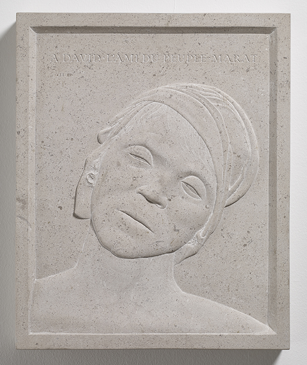 Head of the Dead Marat, (1991), stone, with Neil Talbot, by Ian Hamilton Finlay