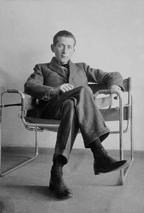 Marcel Breuer on his Wassily Chair, c. 1926