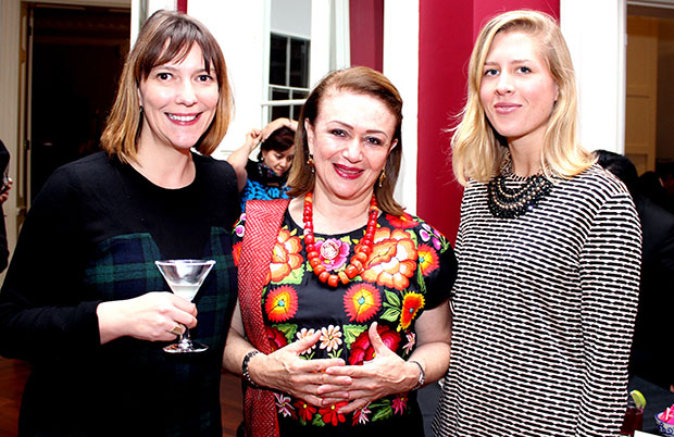 Margarita with Phaidon's Fiona Smith left and Roxane Gergaud right