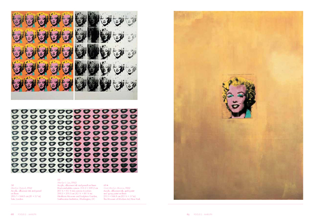 A spread from our attractively packaged and priced Andy Warhol Phaidon Focus book available in the store