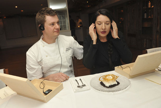 The artist is present - and serves dessert; Volcano Flambé by Marina Abramović