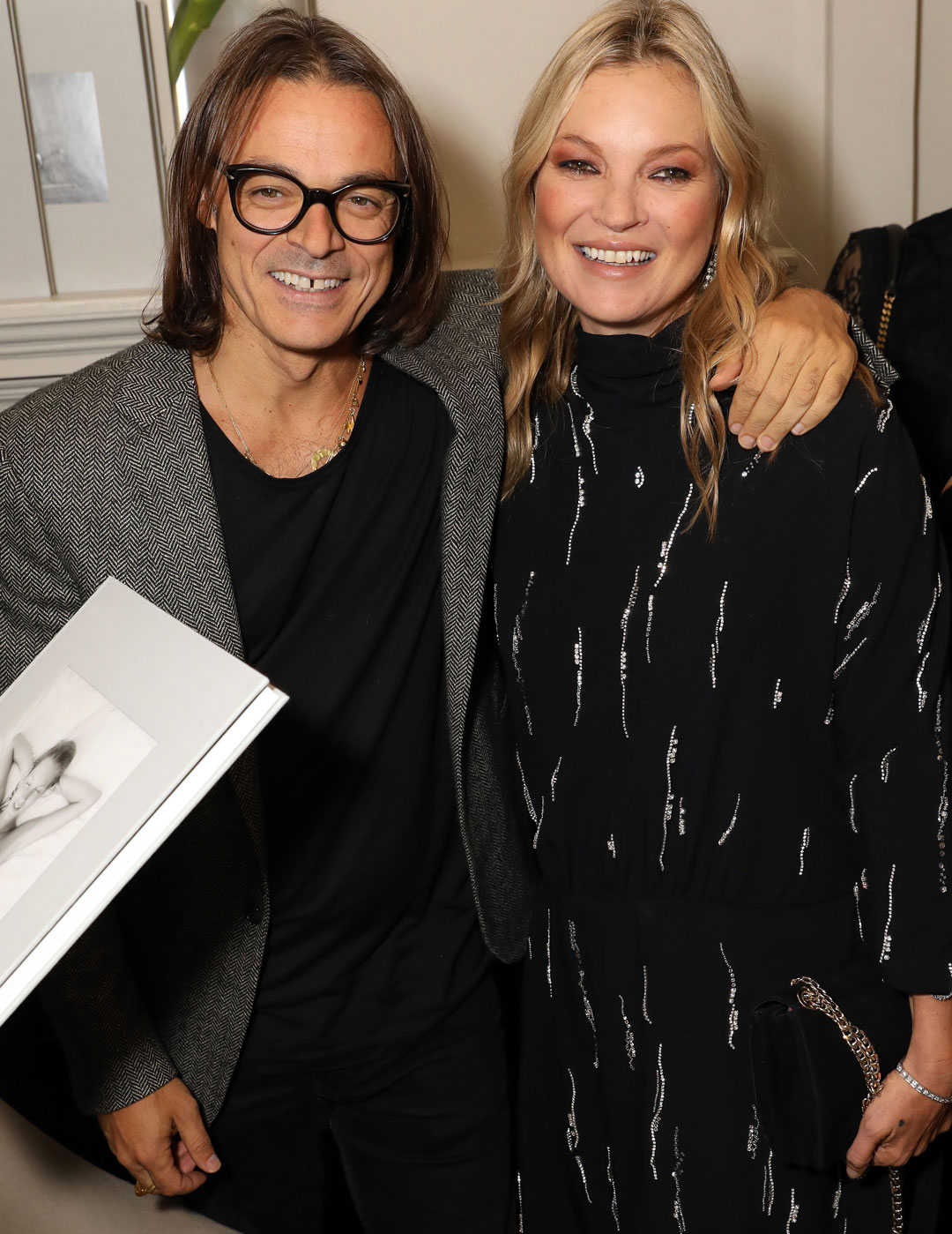 Photographer Mario Sorrenti and Kate Moss at Matches, 5 Carlos Place