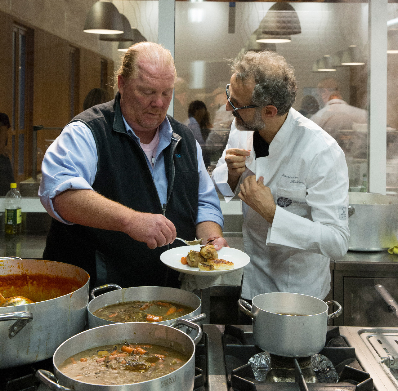 Massimo Bottura and Mario Batali create kitchen alchemy