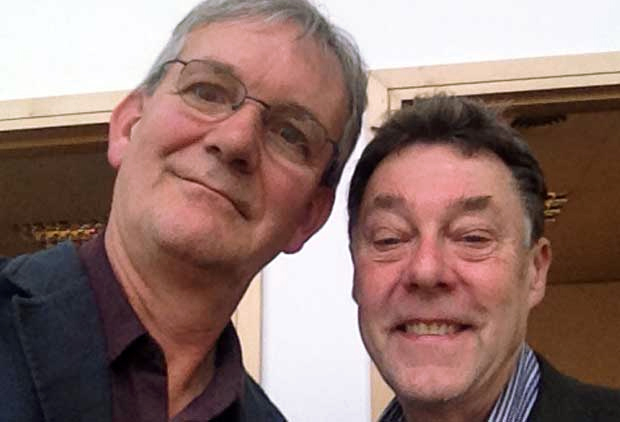 Martin Parr's Selfie of himself and Photobook III co-author Gerry Badger - Phaidon, London 9.4.14