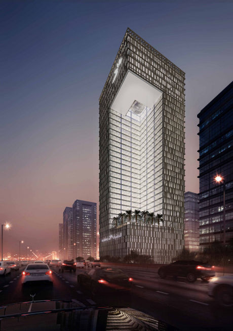 SOM's plans for Mashreq Bank's headquarters in Dubai