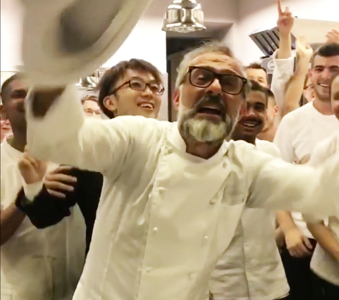 Massimo and his Osteria Francescana crew break for the summer. Image courtesy of Massimo's Instagram
