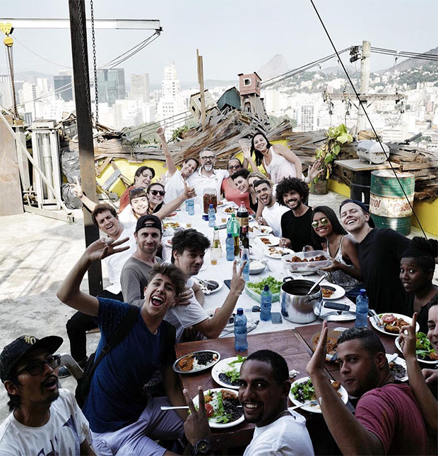 JR and Massimo Bottura's Olympic lunch in Rio