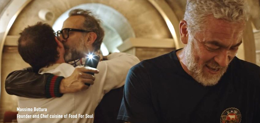 Pascal Barbot, Massimo Bottura and Alex Atala in JR's new film