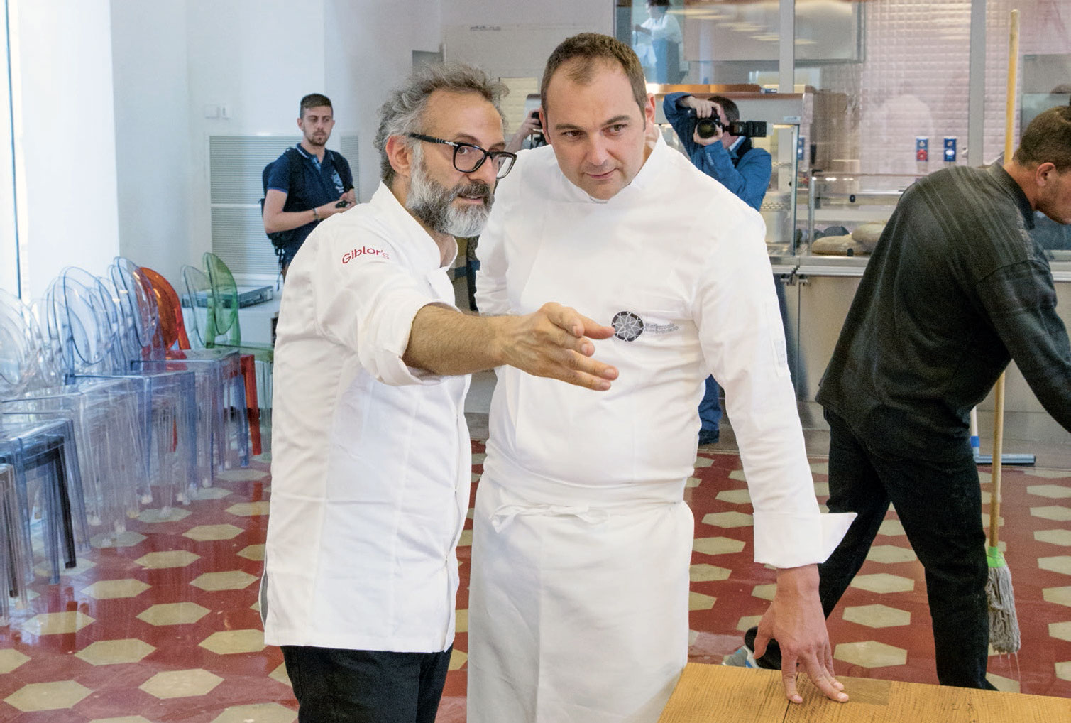 Daniel Humm and Massimo Bottura, as featured in Bread is Gold