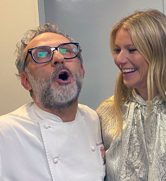 Massimo Bottura and Gwyneth Paltrow. Image courtesy of Bottura's Instagram