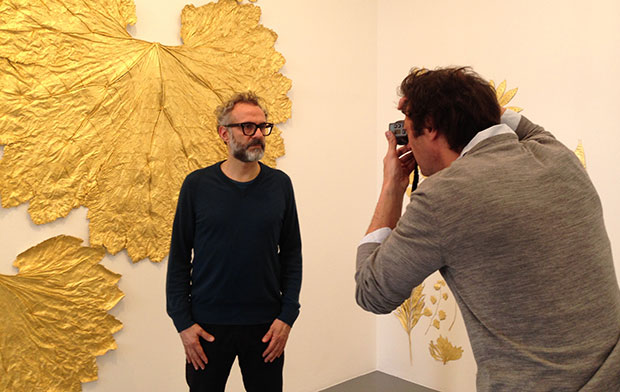 Backstage at Massimo Bottura's Grazia photo shoot