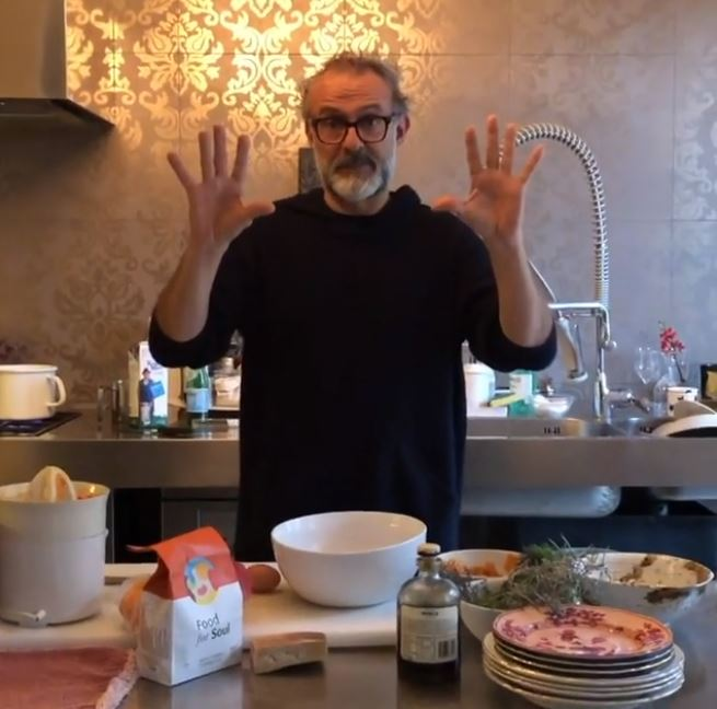 Massimo Bottura is offering free cookery lessons via Instagram