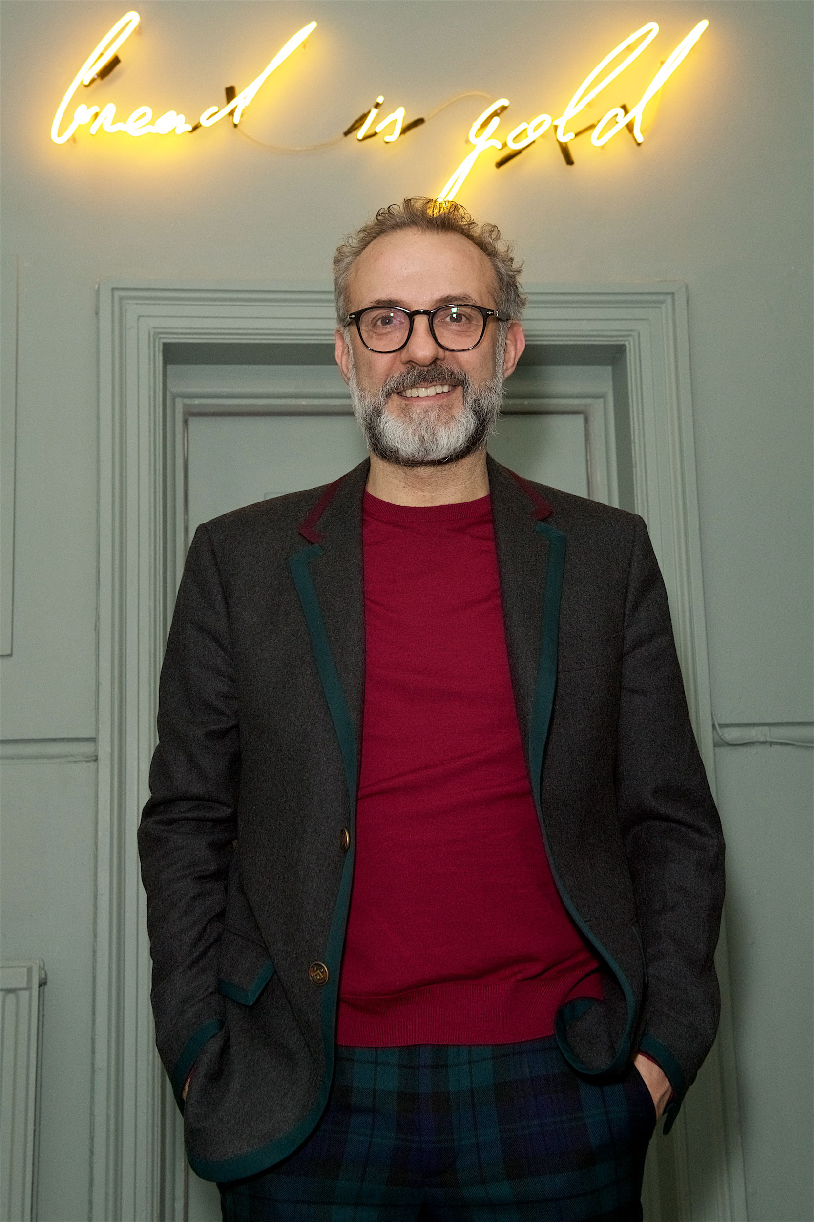 Massimo Bottura at Refettorio Felix December 2 2017 - photo by James Mason