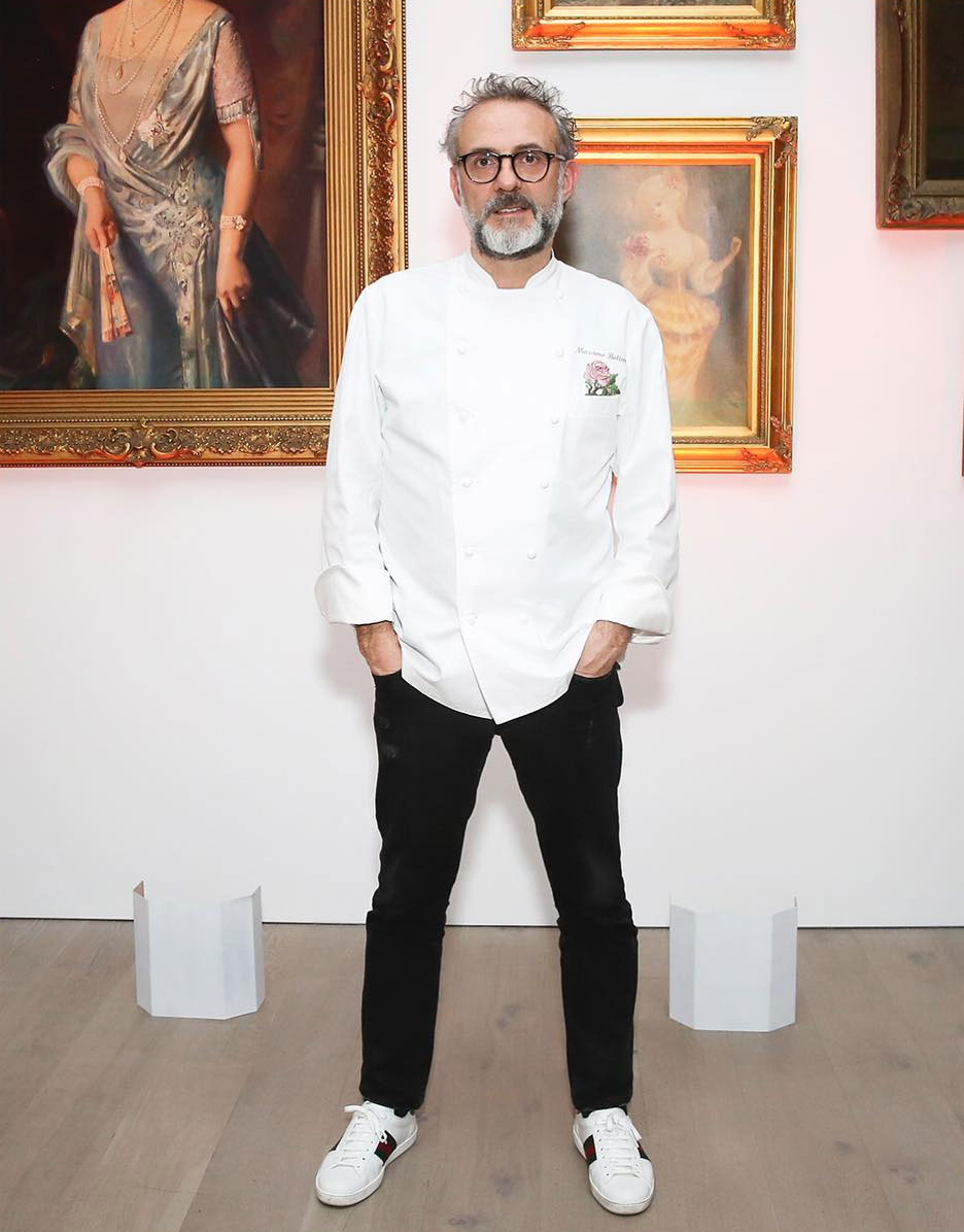 Massimo Bottura at his Gucci dinner in LA. Images courtesy of Gucci's Instagram