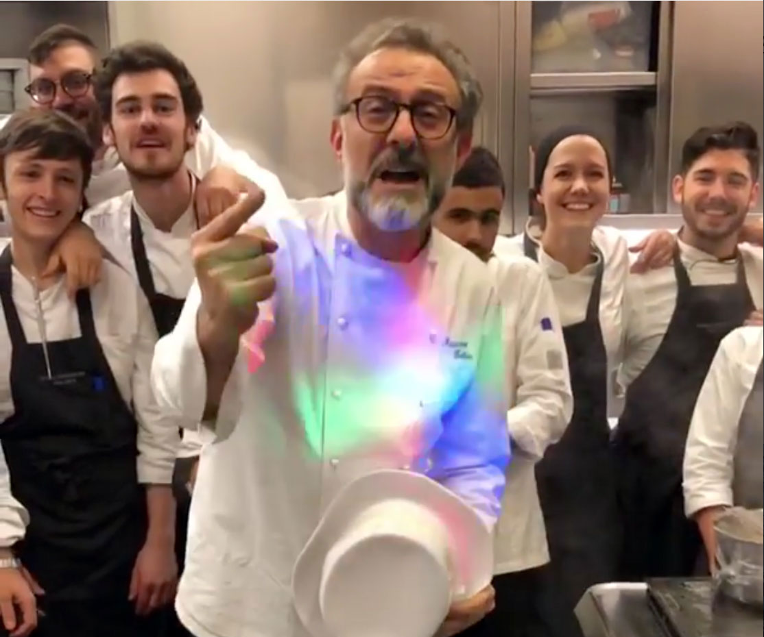 Massimo Bottura and co. at Osteria Francescana on New Year's Eve