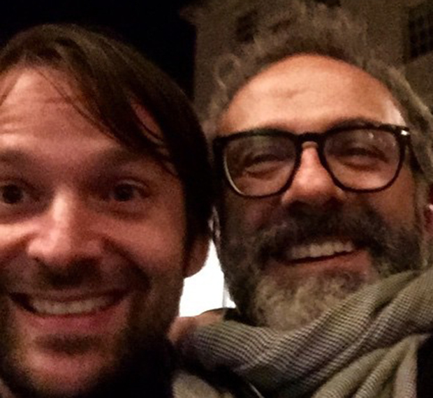 René Redzepi and Massimo Bottura. Image courtesy of Massimo's Instagram