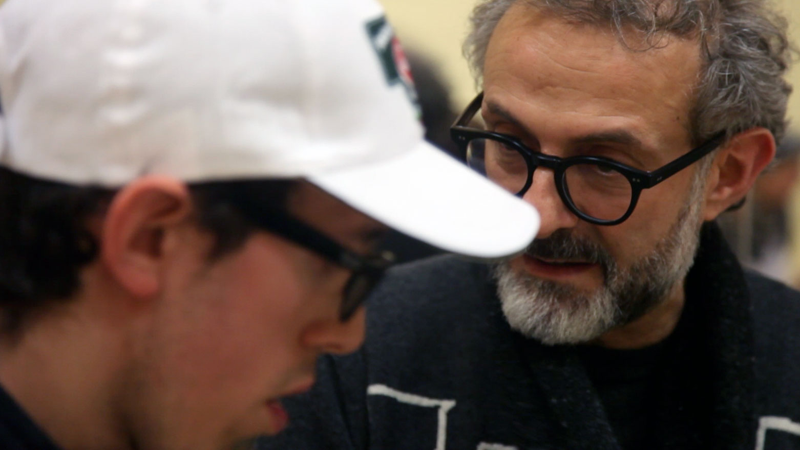 Massimo Bottura (right) at Il Tortellante. Image courtesy of Aut Aut Modena