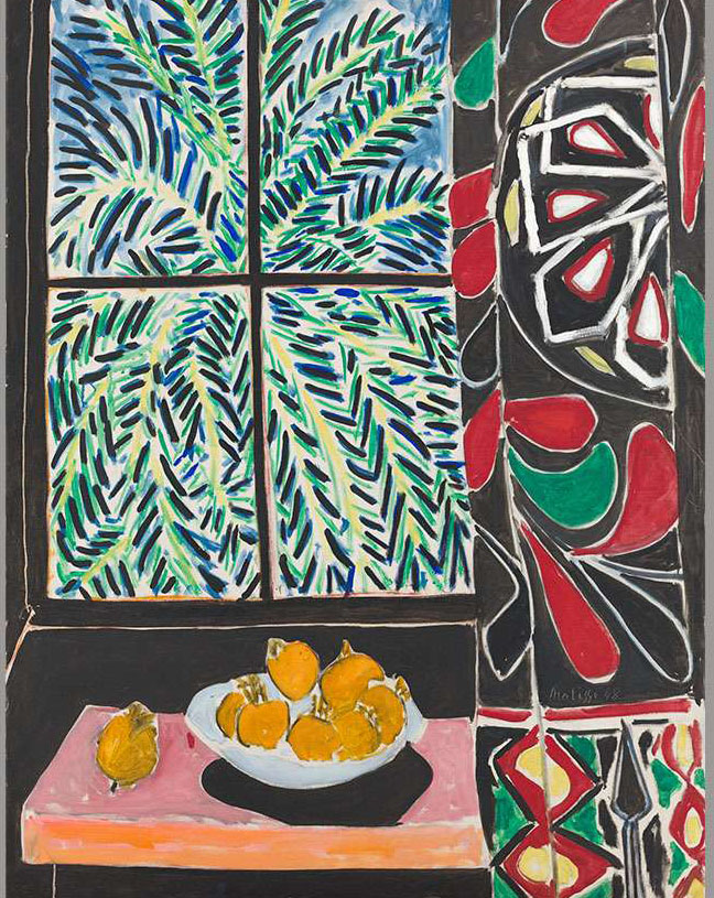 Henri Matisse, interior with Egyptian curtain, 1948 Oil on canvas. The Phillips Collection, Acquired 1950. © 2017 Succession H. Matisse / Artists Rights Society (ARS), New York.