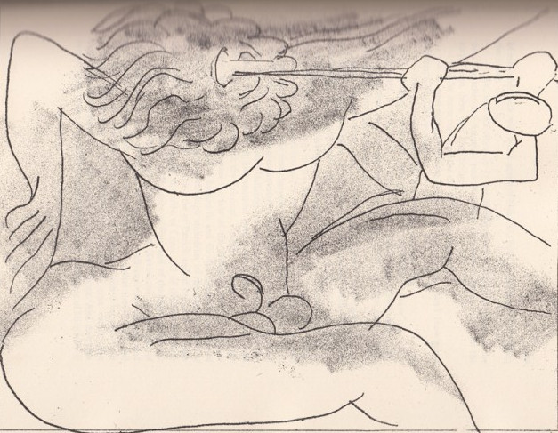 One of Matisse's 1934 illustrations for James Joyce's Ulysses