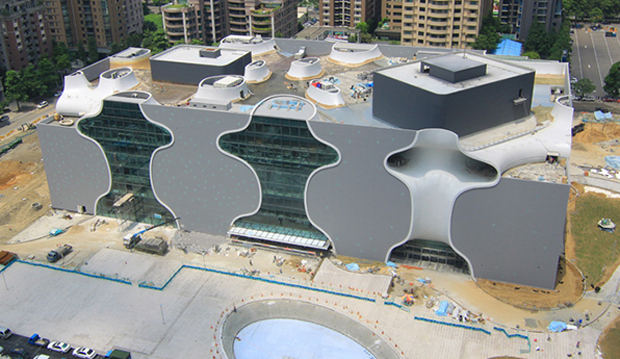 Toyo Ito creates opera house from sprayable concrete