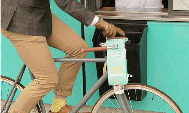 An end to flipping over? Cyclist friendly packaging from McDonald's