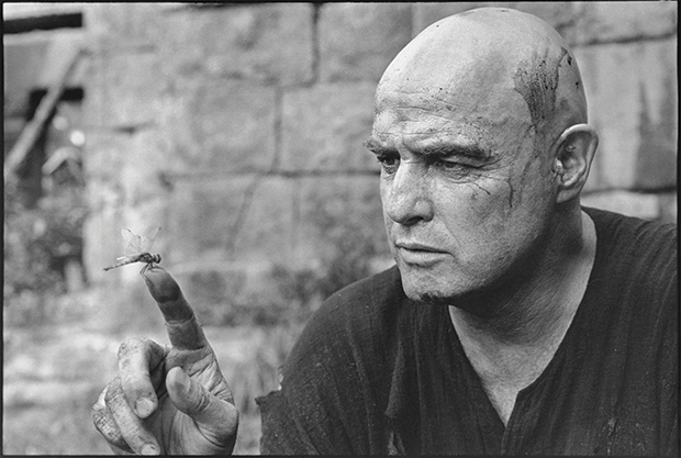 Marlon Brando on the set of Apocalypse Now, 1976, by Mary Ellen Mark
