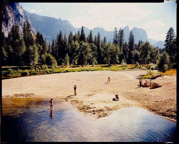Merced River, Yosemite, National Park, California, August 13, 1979 by Stephen Shore. From Uncommon Places. Image courtesy of Galerie Edwynn Houk