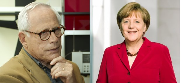 Dieter Rams and Angela Merkel