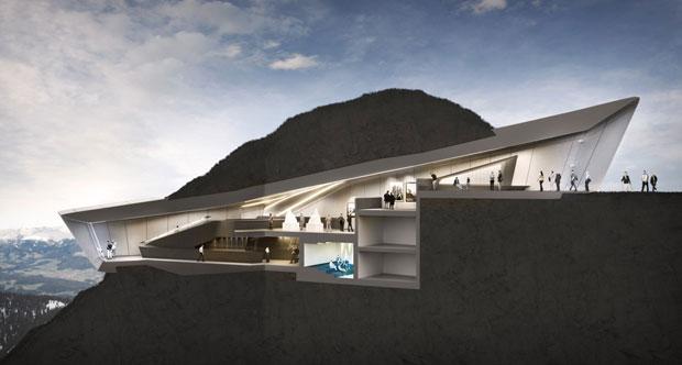 Zaha Hadid Designs Mountaineering Museum