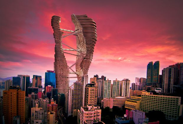 Studio Cachoua Torres Camilletti's proposed skyscraper  for Hong Kong
