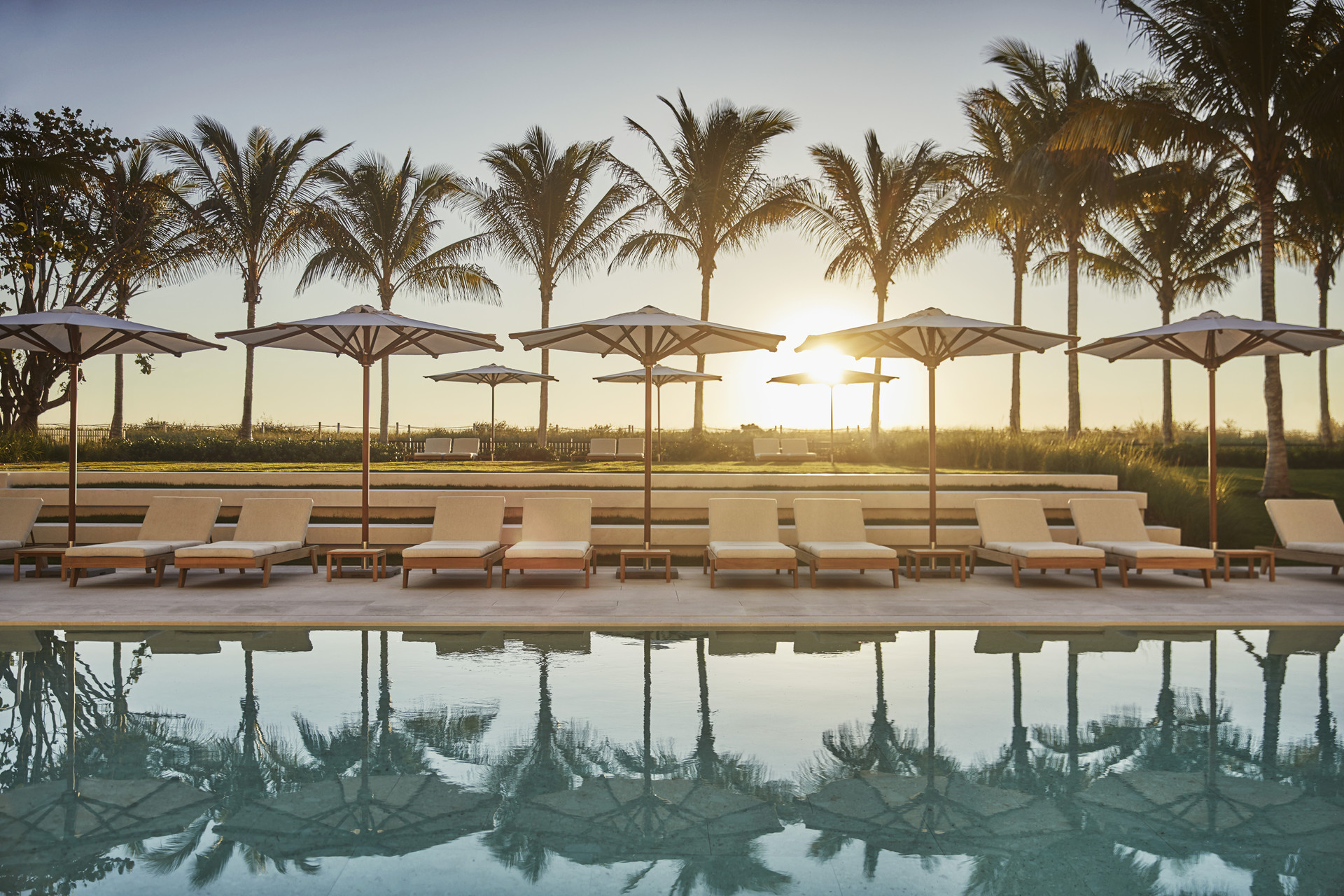 The pool at the Four Seasons Hotel at the Surf Club. Photograph by Christian Horan. All images courtesy of the hotels