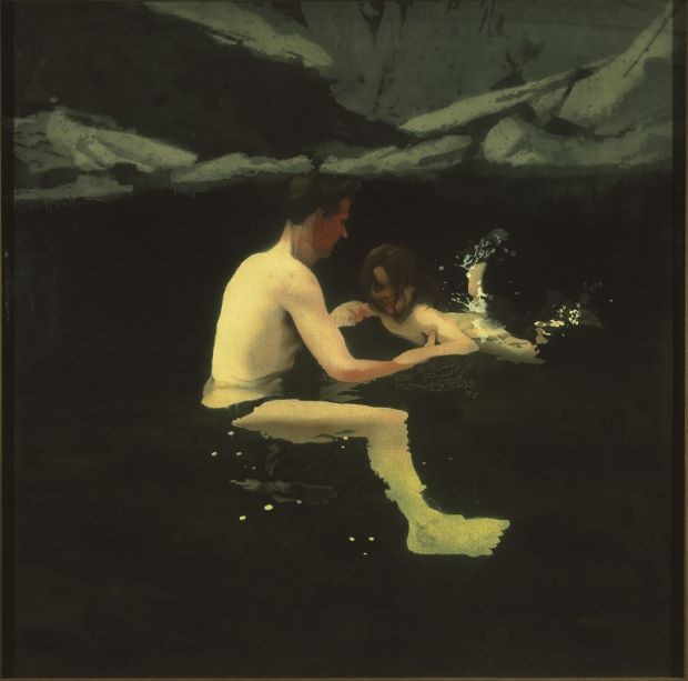 Melanie and Me Swimming (1978-9) by Michael Andrews, courtesy of the Tate/Art Everywhere