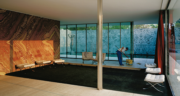 Morning Cleaning, Mies van der Rohe Foundation, Barcelona 1999 by Jeff Wall