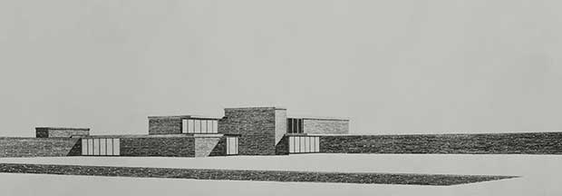 Brick Country House Project, Potsdam, Neubabelsberg (1924) - Mies van der Rohe