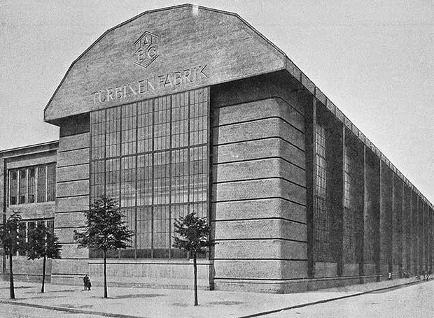 Peter Behrens, AEG Turbine Factory, Berlin, 1907-10