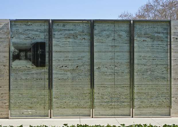 The Barcelona Pavilion minus its doors